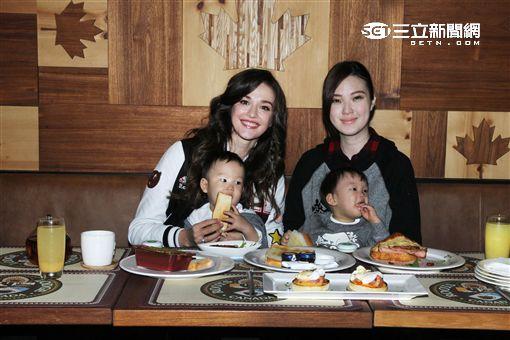 幸福媽咪瑞莎、吳品萱享慢活美食 與Roots迎接美好「食」光。(記者邱榮吉/攝影)