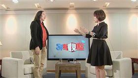 唐鳳接受三立電視專訪。