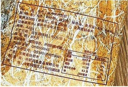肉鬆,碗豆粉,肉粉鬆,食安問題,食品安全 圖/翻攝自北京青年報