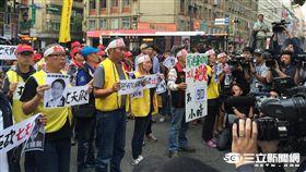 勞團抗議,一例一休,絕食 記者張之謙攝