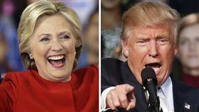 美國總統大選川普希拉蕊(圖/美聯社/達志影像)