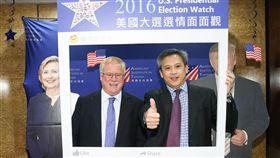 ▲梅健華出席美國大選選情面面觀。(圖/中央社提供)