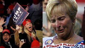 美國總統大選、川普支持者欣喜若狂(圖/路透社/達志影像)