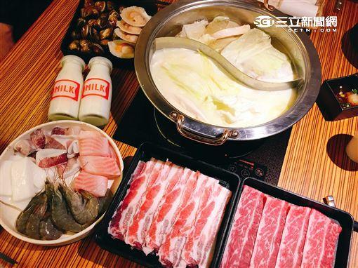 神旺大飯店火鍋,牛奶鍋,澄江鍋物。(圖/記者簡佑庭攝)