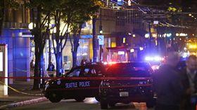 西雅圖槍響5人受傷 近川普抗議活動(圖/美聯社)