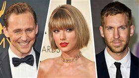 泰勒絲,Taylor Swift,凱文哈里斯,Calvin Harris,洛基,湯姆希德斯頓,Tom Hiddleston/達志影像/美聯社