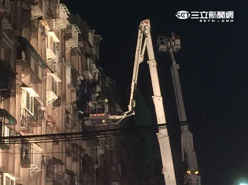 中山區惠德街火災/記者李慈音攝