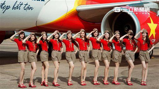 越捷航空,空姐。(圖/越捷提供)