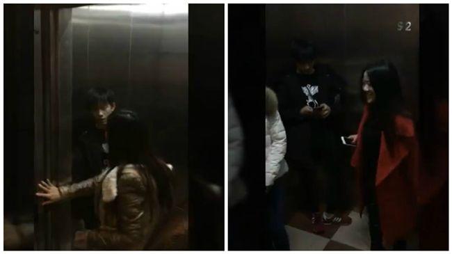 狂粉尾隨進電梯 易烊千璽委屈縮角落