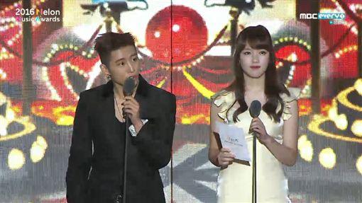 20161119 2016Melon頒獎典禮登場!EXO、BTS率先領獎 圖/翻攝自MBCevery1