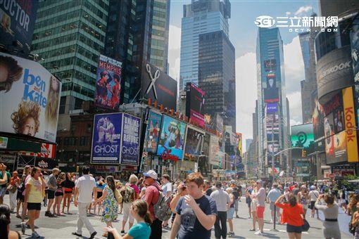紐約時代廣場。(圖/記者簡佑庭攝)