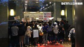 「林明昇滾出來!」復興工會總部抗議 記者簡佑庭