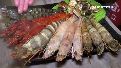 養生風!夢幻蝶豆花鍋「巨豬蝦」長30公分