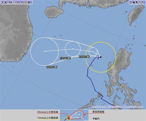 1128氣象(圖/翻攝自潘大綱臉書)