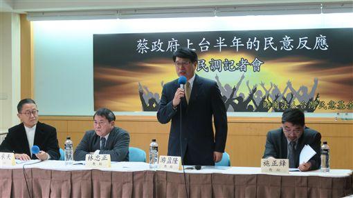 台灣民意基金會,蔡政府上台半年民意反應。記者盧素梅攝