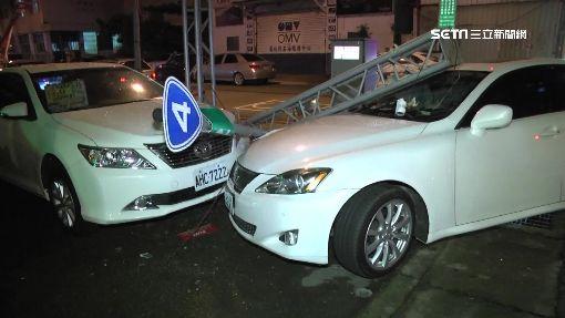 百萬名車對撞波及車行 肇事車主棄車逃