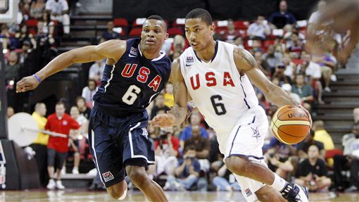 Russell Westbrook,Derrick Rose(ap)
