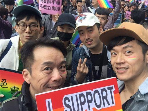 焦糖哥哥,陳嘉行,立法院,婚姻平權,同志婚姻 圖/翻攝自陳嘉行臉書
