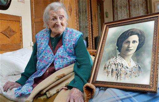 義人瑞奶奶莫倫諾(Emma Morano)歡度117歲生日。(圖/美聯社/達志影像)