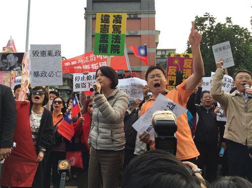 國民黨赴黨產會抗議(圖/記者謝盛帆)