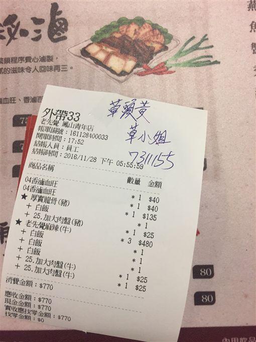 電話訂餐,姓名,草頭黃,笨板,PTT 圖/翻攝自PTT