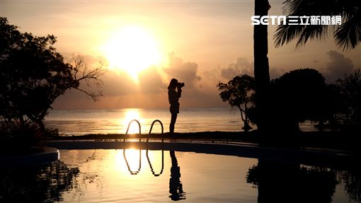 日出,攝影,旅遊,菲律賓,海上日出。(圖/記者簡佑庭攝)