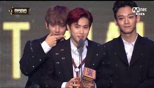 MAMA,香港,Mnet亞洲音樂大獎,EXO 圖/翻攝自直播網址skpb k-pop live