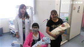▲潘女士經子宮內膜瘜肉切除手術後,順利產下雙胞胎。(圖/童綜合醫院提供)