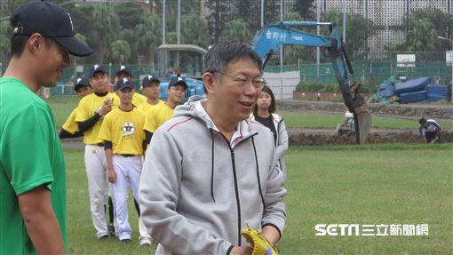 陳偉殷棒球營,台北市長柯文哲開球(圖/記者王怡翔攝)