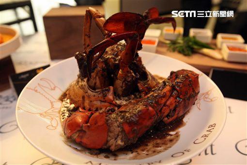 台北晶華酒店推出「深海巨蟹」美食節。(圖/記者簡佑庭攝)