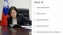 台灣登Google熱搜 組圖/翻攝自Google搜尋趨勢、總統府