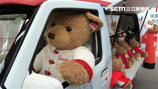 英國百年品牌Harrods年度熊:休伊,耶誕節。(圖/記者簡佑庭攝)