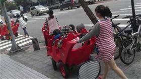 6人座巨型推車趴趴走 民眾:超可愛