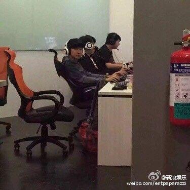 林俊傑,網咖,圖/微博
