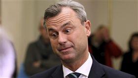 奧地利總統大選,自由黨候選人霍弗。(圖/美聯社/達志影像)