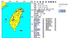 1209地震 圖/氣象局