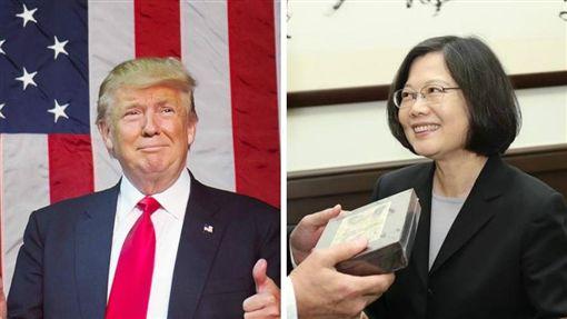 蔡英文,川普,Trump,台灣總統,美國總統當選人(圖/翻攝自蔡英文、川普臉書)