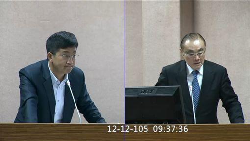 蔡適應質詢馮世寬 翻攝立法院IVOD