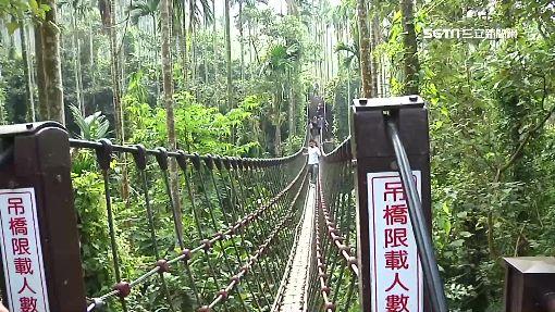 古坑情人橋 超窄一人橋身如走鋼索