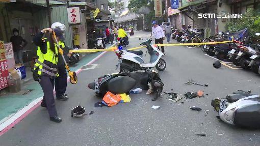 機車竟無視對方 巷內對撞2騎士傷