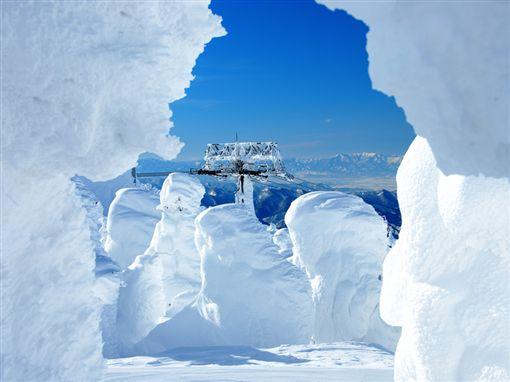 日本東北藏王樹冰。(圖/易遊網提供)