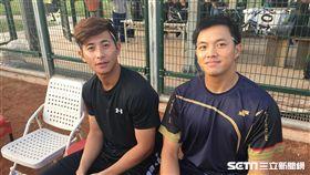 吳念庭、陳傑憲參加「台日職棒棒球教室」(圖/陳怡汝攝)