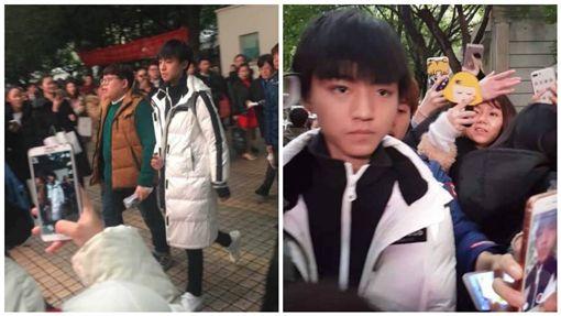 TF王俊凱考大學 演技大爆發讓監考老師也看呆了圖/翻攝自微博