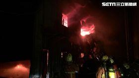 火災,林口,新北,鐵皮,倉儲,火警,消防-翻攝畫面