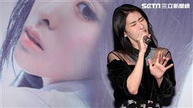 中國好聲音2014第3季總冠軍張碧晨,首張個人專輯「開往早晨的午夜」終於發片。(記者邱榮吉/攝影)
