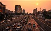 中國,北京,公路,交通,日落,夕陽(圖/Pixabay)