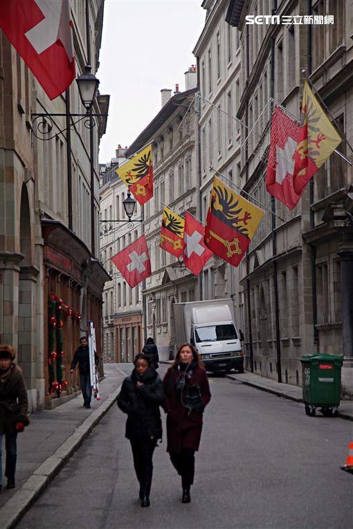 瑞士,日內瓦,登城節,派對,狂歡。(圖/記者簡佑庭攝)