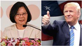 蔡英文、川普/記者林敬旻攝、川普臉書