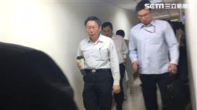 台北市長柯文哲密會民進黨團討論預算 盧冠妃攝