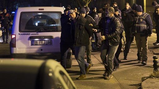 美國駐土耳其大使館驚傳槍響。(圖/翻攝自Twitter)